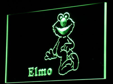 Image of Sesame Street Elmo LED Neon Sign - Green - SafeSpecial