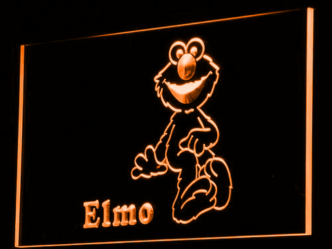 Image of Sesame Street Elmo LED Neon Sign - Orange - SafeSpecial