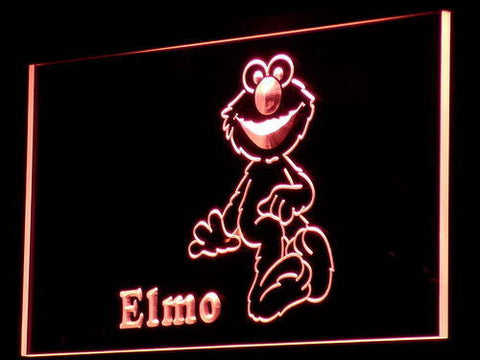 Image of Sesame Street Elmo LED Neon Sign - Red - SafeSpecial