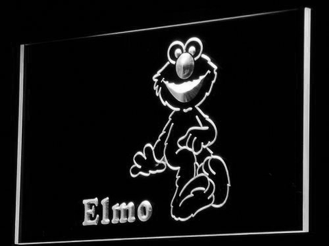 Image of Sesame Street Elmo LED Neon Sign - White - SafeSpecial