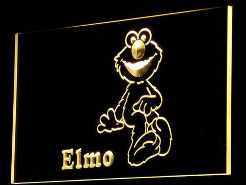 Image of Sesame Street Elmo LED Neon Sign - Yellow - SafeSpecial