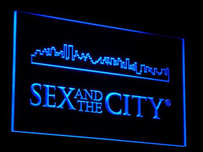 Sex And The City LED Neon Sign - Blue - SafeSpecial