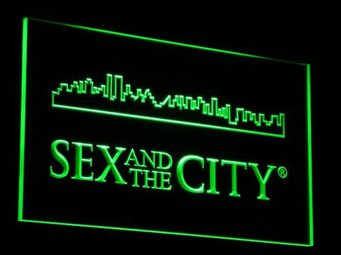 Image of Sex And The City LED Neon Sign - Green - SafeSpecial