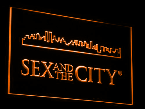 Image of Sex And The City LED Neon Sign - Orange - SafeSpecial