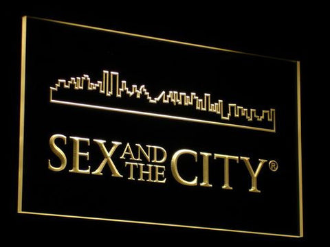 Image of Sex And The City LED Neon Sign - Yellow - SafeSpecial