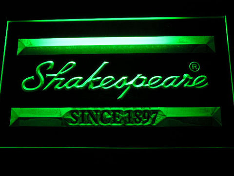 Image of Shakespeare LED Neon Sign - Green - SafeSpecial
