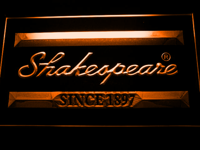 Shakespeare LED Neon Sign - Orange - SafeSpecial