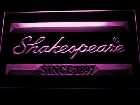 Image of Shakespeare LED Neon Sign - Purple - SafeSpecial