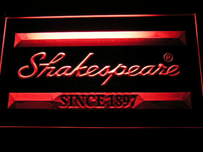 Shakespeare LED Neon Sign - Red - SafeSpecial