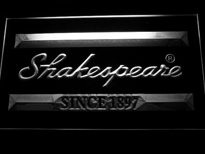 Shakespeare LED Neon Sign - White - SafeSpecial
