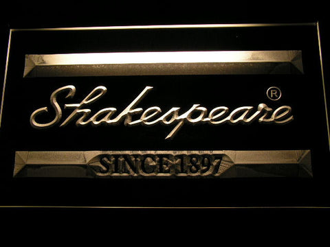 Image of Shakespeare LED Neon Sign - Yellow - SafeSpecial