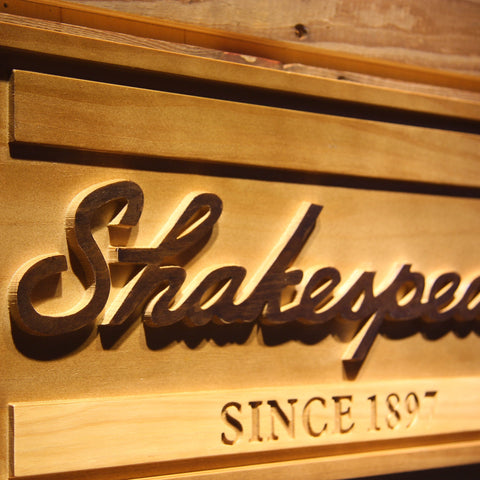 Shakespeare Wooden Sign - - SafeSpecial