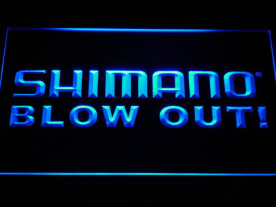 Shimano Blowout LED Neon Sign - Blue - SafeSpecial