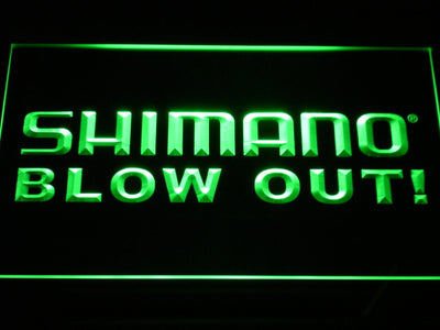 Shimano Blowout LED Neon Sign - Green - SafeSpecial