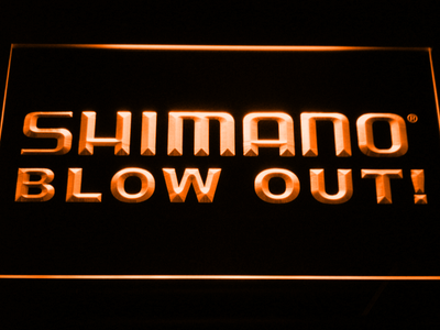 Shimano Blowout LED Neon Sign - Orange - SafeSpecial