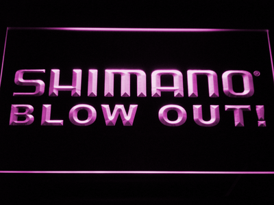 Shimano Blowout LED Neon Sign - Purple - SafeSpecial