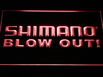 Shimano Blowout LED Neon Sign - Red - SafeSpecial