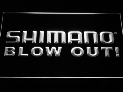Shimano Blowout LED Neon Sign - White - SafeSpecial
