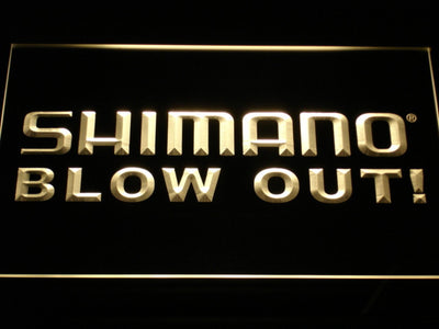 Shimano Blowout LED Neon Sign - Yellow - SafeSpecial