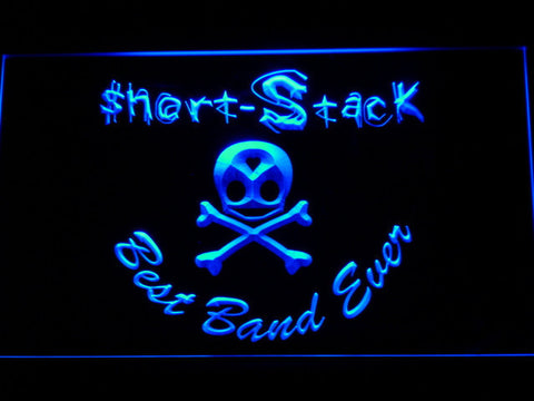 Short Stack Best Band Ever LED Neon Sign - Blue - SafeSpecial