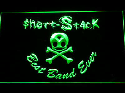 Short Stack Best Band Ever LED Neon Sign - Green - SafeSpecial