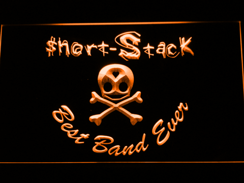 Short Stack Best Band Ever LED Neon Sign - Orange - SafeSpecial