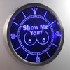 Show Me Your LED Neon Wall Clock - Blue - SafeSpecial