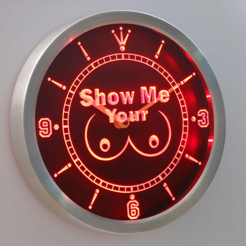 Show Me Your LED Neon Wall Clock - Red - SafeSpecial