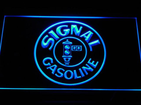 Image of Signal Gasoline LED Neon Sign - Blue - SafeSpecial