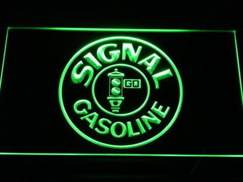 Image of Signal Gasoline LED Neon Sign - Green - SafeSpecial