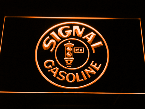 Signal Gasoline LED Neon Sign - Orange - SafeSpecial