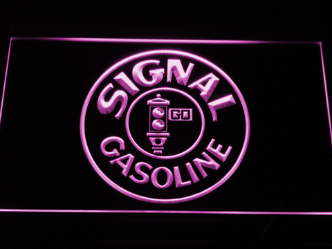 Image of Signal Gasoline LED Neon Sign - Purple - SafeSpecial