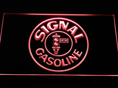 Image of Signal Gasoline LED Neon Sign - Red - SafeSpecial