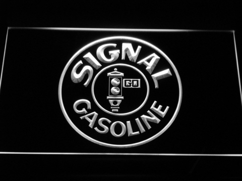 Signal Gasoline LED Neon Sign - White - SafeSpecial