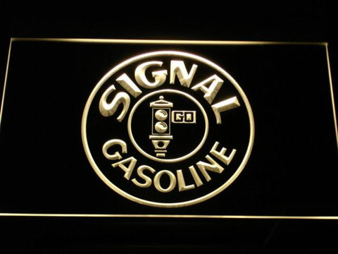 Image of Signal Gasoline LED Neon Sign - Yellow - SafeSpecial