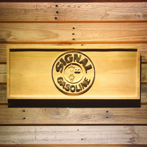 Image of Signal Gasoline Wooden Sign - Small - SafeSpecial