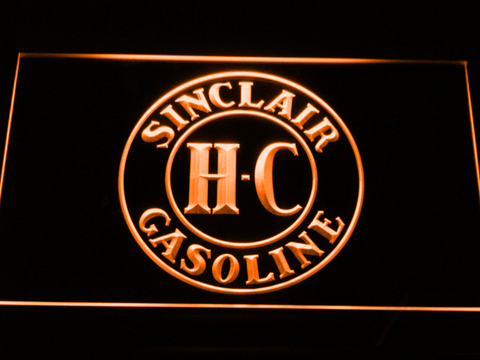Image of Sinclair Gasoline LED Neon Sign - Orange - SafeSpecial