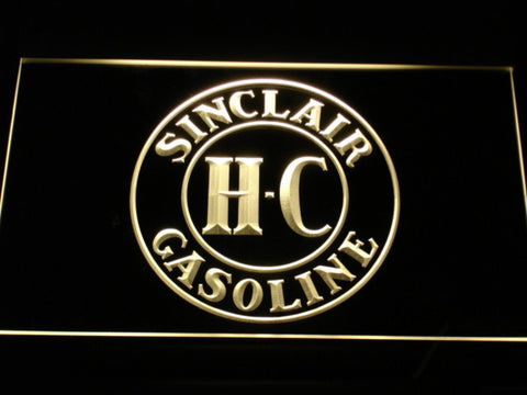 Image of Sinclair Gasoline LED Neon Sign - Yellow - SafeSpecial