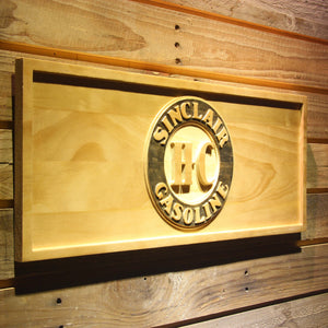Sinclair Gasoline Wooden Sign - - SafeSpecial
