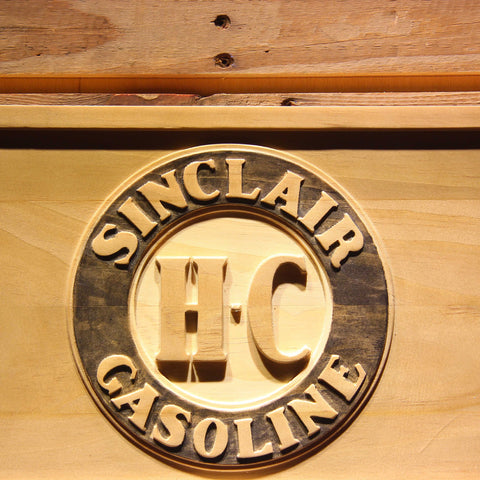 Image of Sinclair Gasoline Wooden Sign - - SafeSpecial
