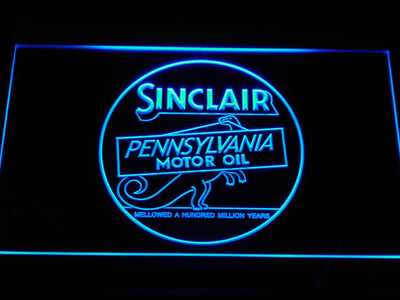 Sinclair Motor Oil LED Neon Sign - Blue - SafeSpecial