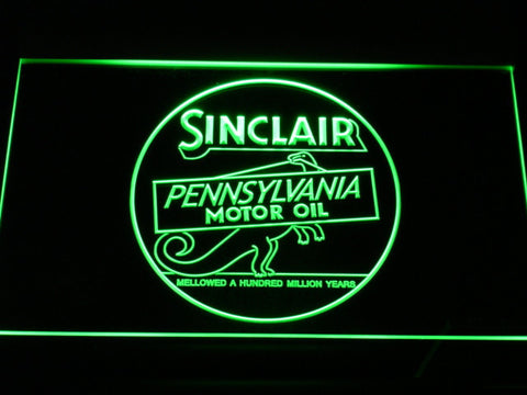 Image of Sinclair Motor Oil LED Neon Sign - Green - SafeSpecial