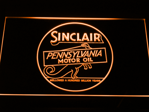 Image of Sinclair Motor Oil LED Neon Sign - Orange - SafeSpecial
