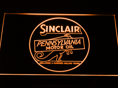 Sinclair Motor Oil LED Neon Sign - Orange - SafeSpecial