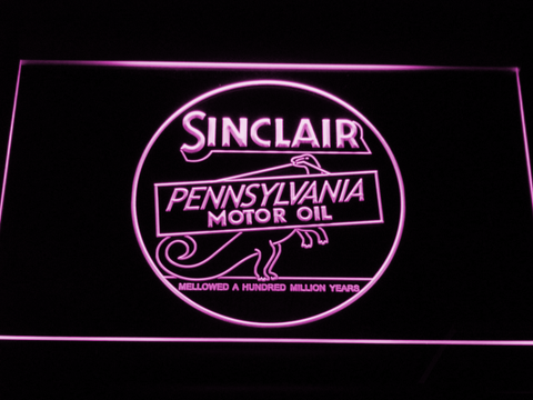 Image of Sinclair Motor Oil LED Neon Sign - Purple - SafeSpecial