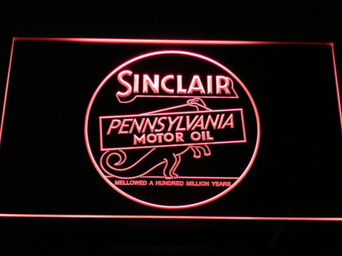Sinclair Motor Oil LED Neon Sign - Red - SafeSpecial