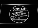 Sinclair Motor Oil LED Neon Sign - White - SafeSpecial