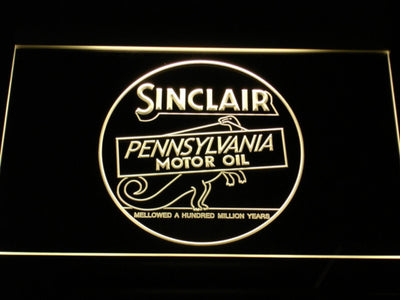 Sinclair Motor Oil LED Neon Sign - Yellow - SafeSpecial