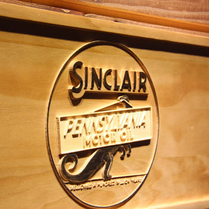 Sinclair Motor Oil Wooden Sign - - SafeSpecial