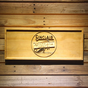 Sinclair Motor Oil Wooden Sign - Small - SafeSpecial